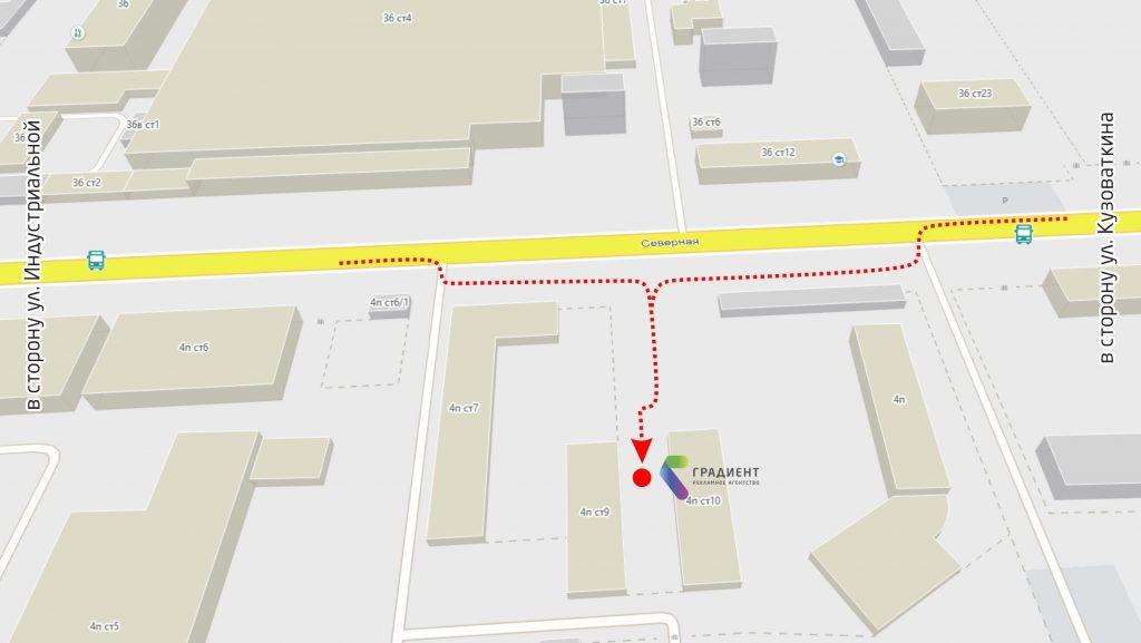 Схема проезда РА Градиент Нижневартовск